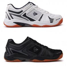 Oferta! Adidasi Barbati Dunlop Indoor originali - marimea 41 42 43 44 45 46 47, Culoare: Alb, Negru
