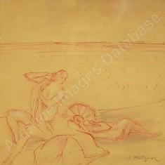 Samuel Mutzner - La plaja, Scene gen, Pastel, Altul