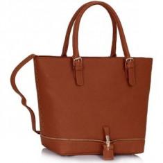 L&S Fashion LS00315 geanta pe umar maro naturale - Geanta Dama, Geanta de umar