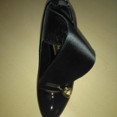 Pantofi Alexander MQueen - Pantof dama Alexander Mcqueen, Culoare: Negru, Marime: 37.5, Cu toc