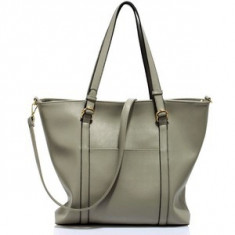 L&S Fashion LS00413 geanta pe umar gri - Geanta Dama, Geanta de umar