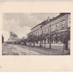 #2057- Romania, Nagykaroly, Carei, carte postala circulata 1913: Gimnaziul