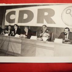 Fotografie -Congres CDR anii '90 :Quintus , Ciorbea ,E.Conatantinescu,Diaconescu