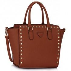 L&S Fashion LS00287 geanta pe umar maro naturale - Geanta Dama, Geanta de umar