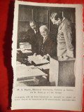 Fotografie - copie -Regele Carol II , D.Gusti si Gr.Antipa ,dim.=15,3 x10 cm