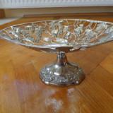 Centru de masa din metal argintat - Metal/Fonta