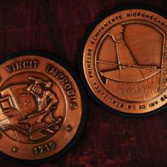 LOT 2 MEDALII ANIVERSARE - ÎNTREPRINDEREA DE CONSTRUCȚII METALICE - CMB BOCȘA! - Medalii Romania, An: 1987