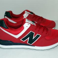 Adidasi NEW BALANCE 574 - Rosu / Negru - Noua Colectie !!! - Adidasi dama New Balance, Marime: 36, 37, 38, 39, Textil