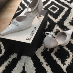 Pantofi de mireasa - Pantof dama, Culoare: Alb, Marime: 38