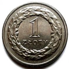 POLONIA, 1 ZLOTY 1994, VULTUR INCORONAT, DIAMETRU 23mm., Europa, Crom