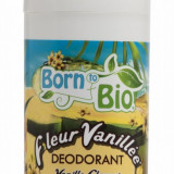 Deodorant Born to Bio roll-on cu Floare de Vanilie, 75 ml - Antiperspirant