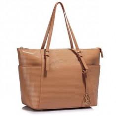 L&S Fashion LS00350A geanta pe umar crem - Geanta Dama, Geanta de umar
