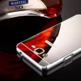 Bumper Samsung Galaxy J5 2016 J510 Aluminiu + Capac Mirror Silver - Husa Telefon Samsung, Gri, Metal / Aluminiu, Fara snur, Carcasa