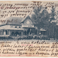 #2056- Romania, Szatmar, Satu Mare, c.p. circulata 1904: Chiosc orasanesc - Carte Postala Maramures pana la 1904, Fotografie