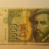 bancnota  SPANIA - 1000 PESETAS 1992 - 6221