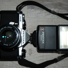 Aparat foto film pentax me, obiectiv pentax smc 1:1, 7- 50mm, blit dedicat - Aparat Foto cu Film Pentax