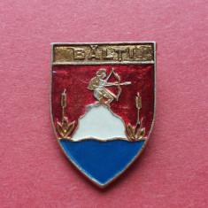 Stema orasului istoric BALTI - insigna Romania regalista, heraldica Basarabia, Romania 1900 - 1950