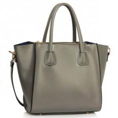 L&S Fashion LS0061B geanta pe umar gri - Geanta Dama