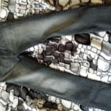 Vand jeansi - Blugi barbati Denim Republic, Marime: 34, Culoare: Negru
