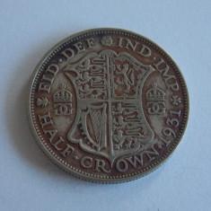 Moneda de argint -half crown -1931 Anglia -2506, Europa