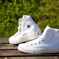 Tenesi Converse All Star alb gheata 2017 - Tenisi barbati Converse, Marime: 36, 37, 38, 39, 40, 41, 42, 43, 44, Culoare: Din imagine, Textil