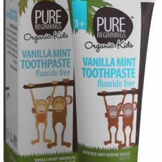 Pasta de dinti vanilie si xylitol, fara fluor pentru copii, Pure Beginnings, 75 ml - Cosmetice copii