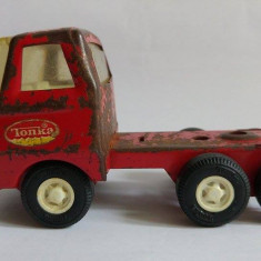Masinuta camion veche de metal/tabla marca TONKA 55010, 12x6.5x5cm, veche - Vehicul