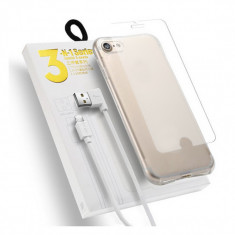 Kit Samsung Galaxy J3/2017 - Husa Telefon Atlas, Transparent, Plastic, Husa