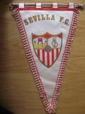 Fanion Sevilla FC , vechi, format mare, 40 x 26 cm