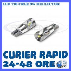 BEC AUTO LED T10 CREE 9W REFLECTOR - POZITII