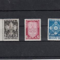 ROMANIA 1936, LP 115, JAMBOREEA NATIONALA BRASOV SERIE MNH - Timbre Romania, Nestampilat