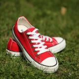 Tenesi Converse All Star rosu - Tenisi dama Converse, Culoare: Din imagine, Marime: 36, 37, 38, 39, 40, 41, 42, 43, 44, Textil