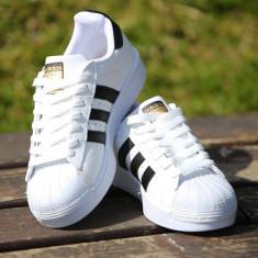 Adidasi Adidas Superstar Dama Alb Negru - Adidasi dama, Culoare: Din imagine, Marime: 36, 37, 38, 39, 40, 41, 42, 43, 44, Piele sintetica