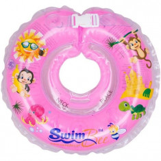 Colac De Gat Pentru Bebelusi Swimbee Roz