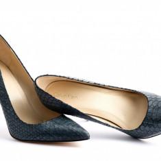 Pantofi stileto Calvin Klein - Pantof dama Calvin Klein, Culoare: Gri, Marime: 39, Cu toc
