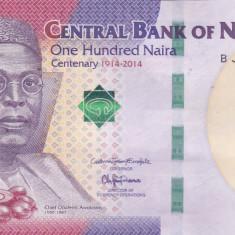 NIGERIA 100 naira 2014 AUNC/AUNC+!!! - bancnota africa