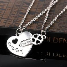 Medalion//Lantic - Lacat/Cheie - Best Friends/BFF/Cei mai buni prieteni - - Lantisor fashion