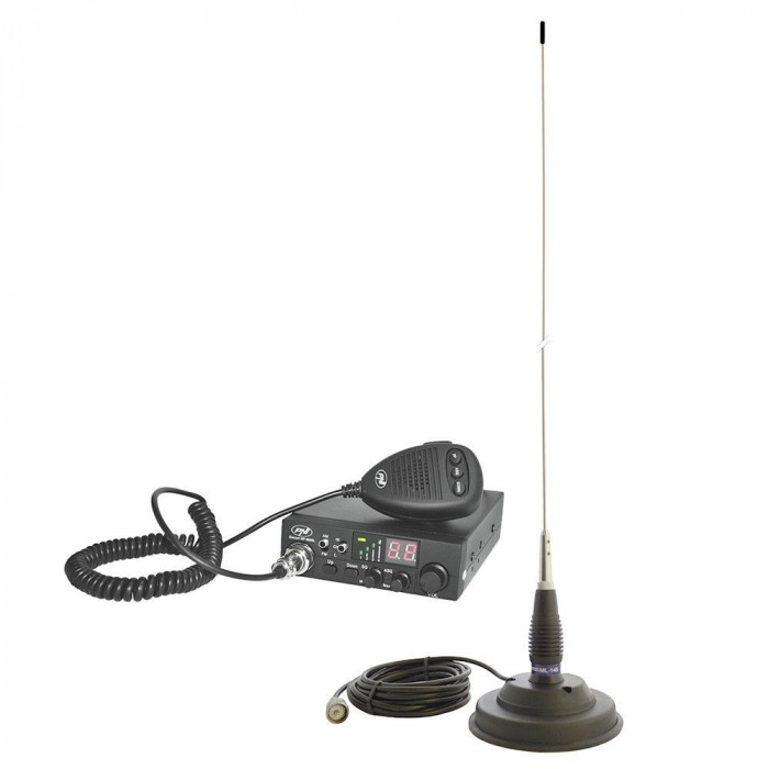 Kit Statie radio CB PNI ESCORT HP 8024 ASQ 12-24V + Antena PNI ML145 PNI-PACK14