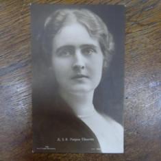 A. S. R. Printesa Elisaveta, fotogafie originala tip CP - Harta Europei