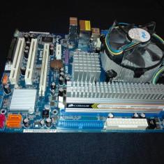 Placa de Baza Asrock 775 DDR3 + procesor + cooler + 2 GB RAM, Pentru INTEL, LGA775, Contine procesor