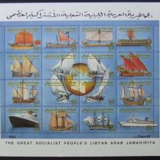 LIBIA - CORABII, 1 M/SH NEOBLITERATA - E5889