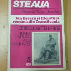 Steaua revista uniunii scriitorilor Romania Cluj mai 1978 articole Noica Plesu
