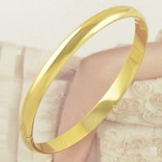 Superba bratara masiva 9k GOLD FILLED - Bratara placate cu aur