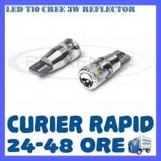 BEC AUTO LED T10 CREE 3W REFLECTOR - POZITII