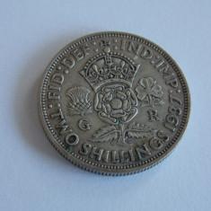 Moneda de argint 2 shilling 1937-Anglia -2508, Europa