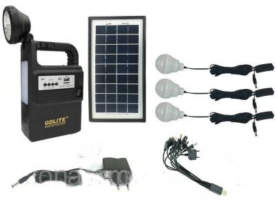Panou solar kit fotovoltaic 3 becuri radio mp3 USB incarcare telefon GD8133 foto