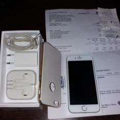IPhone 6S Silver 32 GB NEVERLOCKED Factura+Garantie Dec.2017 - Telefon iPhone Apple, Argintiu, 64GB, Neblocat