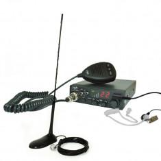 Kit Statie radio CB PNI ESCORT HP 8001L ASQ + Casti HS81L + Antena PNI Extra 45