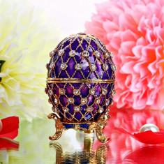 Caseta bijuterii - Ou Faberge /Mărțișor /Unicat /Cutie/Pietre prețioase - Arta din Metal