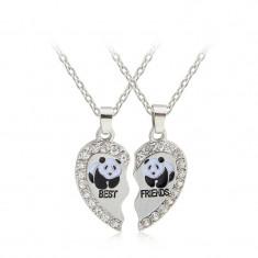 Medalion/ Pandantiv / Colier / Lantisor Best Friends Friend urs panda - 2 Bucati